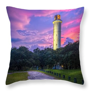 Tower In Sulfur Springs Throw Pillow by Marvin Spates