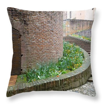 Tower Of Bishops Palace In Albi France Throw Pillow by Susan Alvaro