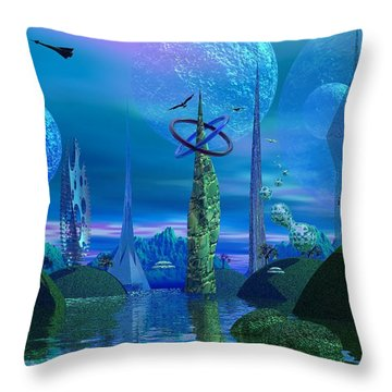 Tower Of Hurn Throw Pillow