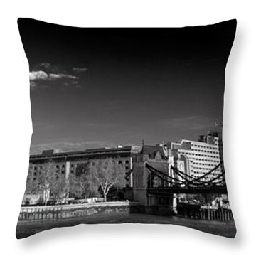 Tower Of London And Tower Bridge Throw Pillow