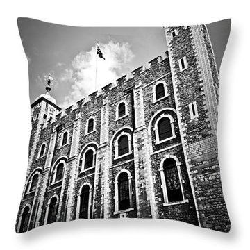 Tower Of London Throw Pillow by Elena Elisseeva