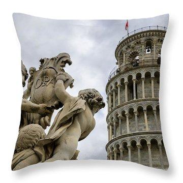 Tower Of Pisa Throw Pillow