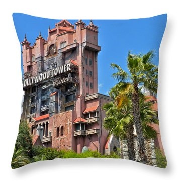 Tower Of Terror Throw Pillow by Thomas Woolworth