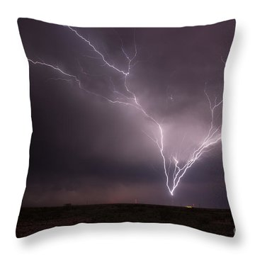 Tower Strike Throw Pillow