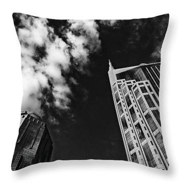 Tower Up Throw Pillow by CJ Schmit