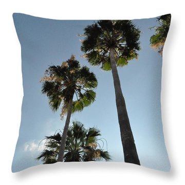 Throw Pillow featuring the photograph Towering Palms by John Black