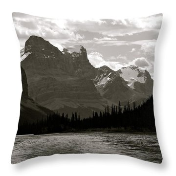 Towering Peaks Throw Pillow