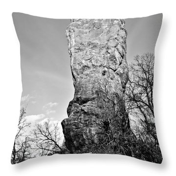 Towering Rock Throw Pillow