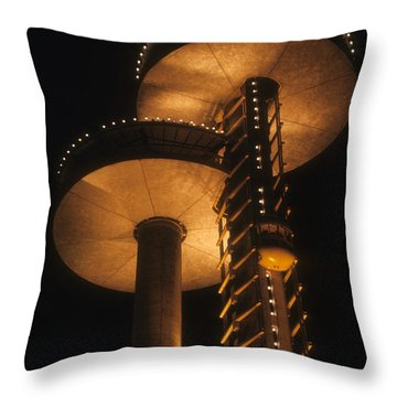 Throw Pillow featuring the photograph Towers Of Light by ELDavis Photography