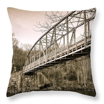 Town Bridge Collinsville Connecticut Throw Pillow by Brian Caldwell
