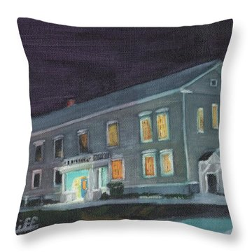 Town Hall At Night Throw Pillow