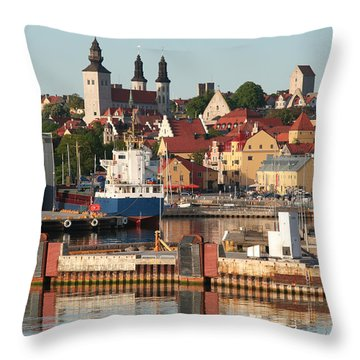 Town Harbour Throw Pillow