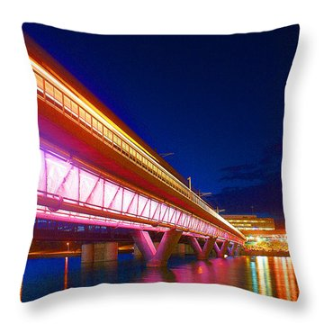 Town Lake Reflections Throw Pillow
