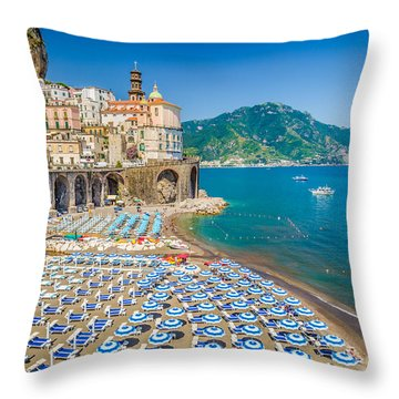 Town Of Atrani Throw Pillow