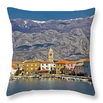 Town Of Vinjerac Waterfrot View Throw Pillow by Brch Photography
