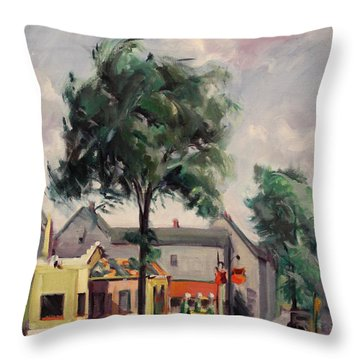 Town Street 1939 Throw Pillow