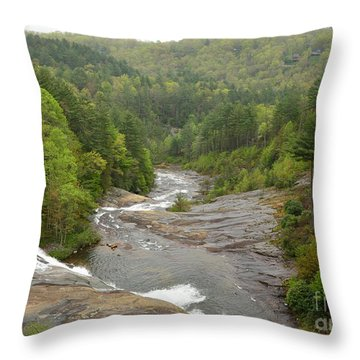 Toxaway Waterfalls Throw Pillow by Bob Sample