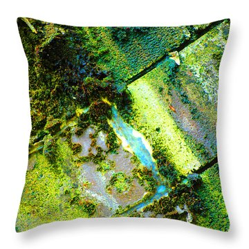 Toxic Moss Throw Pillow