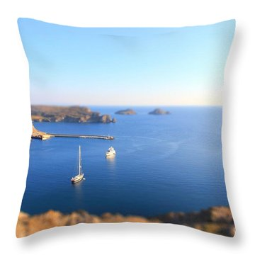 Toy Boats Throw Pillow by Vicki Spindler