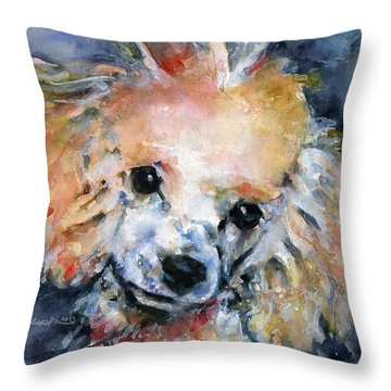 Toy Poodle Throw Pillow