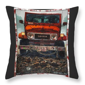 Toyota Throw Pillow by Blue Sky