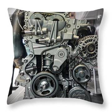 Toyota Engine Throw Pillow by RicardMN Photography