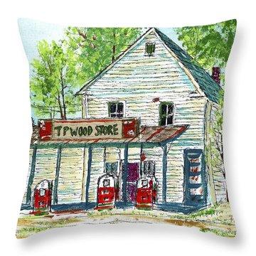 Tp Woods Store Vertical Throw Pillow
