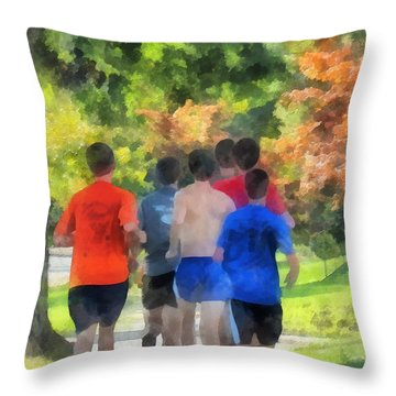 Track Practice Throw Pillow