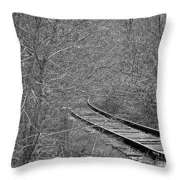 Throw Pillow featuring the photograph Tracks by Juls Adams