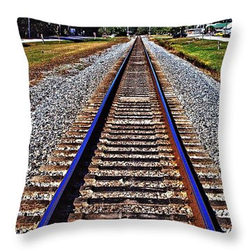 Tracks To Somewhere Throw Pillow