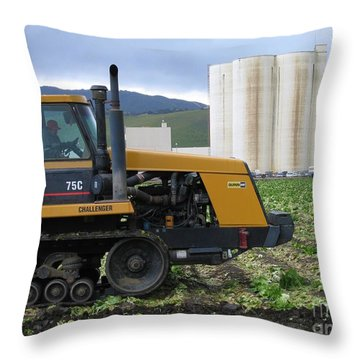Tractor At Spreckels Throw Pillow
