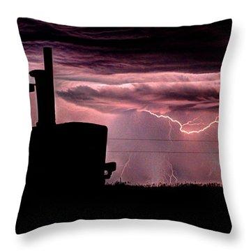 Tractor Lightening  Throw Pillow