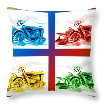 Tractor Mania IIi Throw Pillow by Kip DeVore