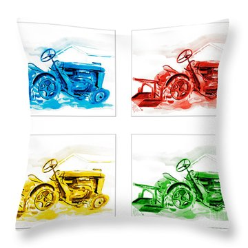 Tractor Mania  Throw Pillow by Kip DeVore