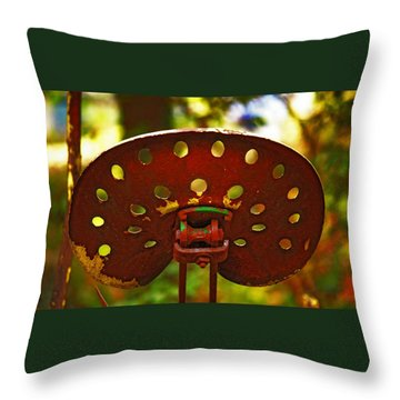 Tractor Seat Throw Pillow
