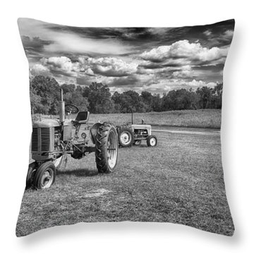 Throw Pillow featuring the photograph Tractors by Howard Salmon