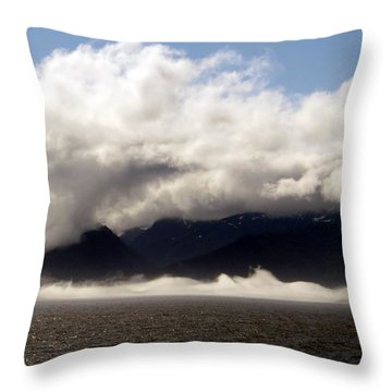 Throw Pillow featuring the photograph Tracy Arm Fjord by Jennifer Wheatley Wolf