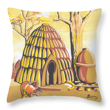 Traditional House Massa Northern Cameroon Throw Pillow by Emmanuel Baliyanga