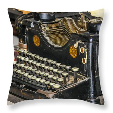 Throw Pillow featuring the photograph Traditional Typewriter by Susan Leonard