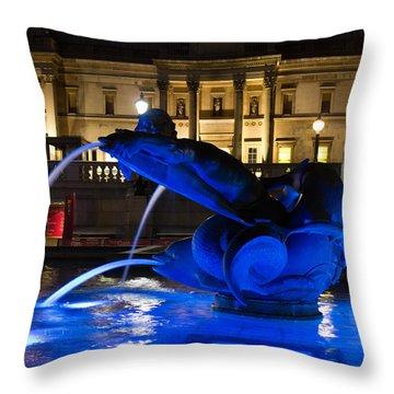 Trafalgar Square At Night Throw Pillow
