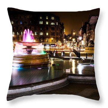 Throw Pillow featuring the photograph Trafalgar Square by Matt Malloy