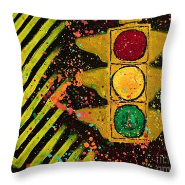 Traffic Jam Cropped Throw Pillow