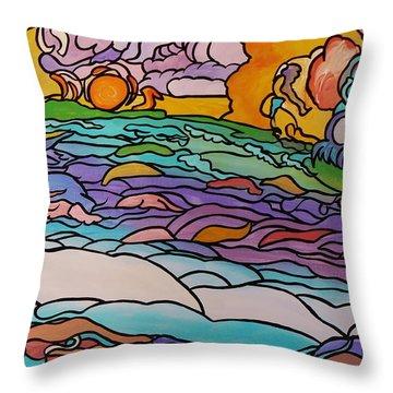 Tragic Throw Pillow by Barbara St Jean