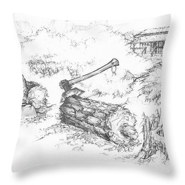Trail Divides Throw Pillow