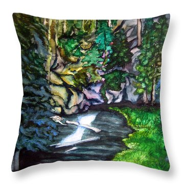Trail To Broke-off Throw Pillow by Lil Taylor