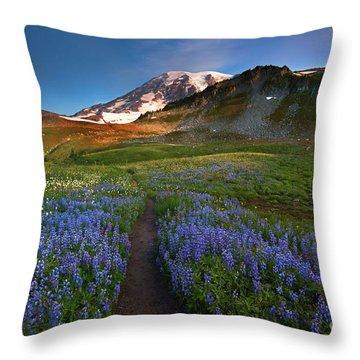 Trail To Majesty Throw Pillow