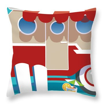 Trailer Park Throw Pillow