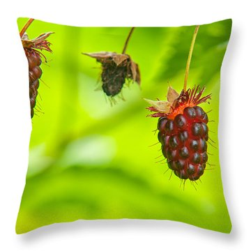 Trailing Blackberry Throw Pillow