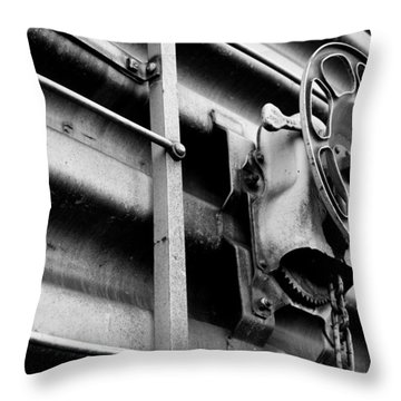 Train 11 Throw Pillow by Niels Nielsen