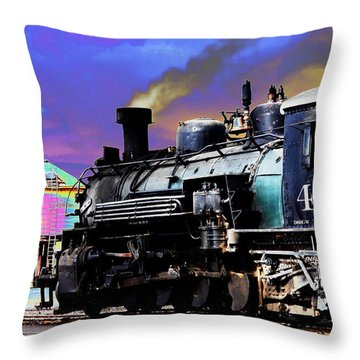 Train 489 Throw Pillow by Steven Bateson